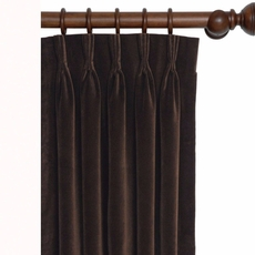 Powell Jackson Brown Curtain Panel with Pleated Header by Eastern Accents