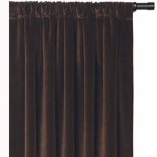 Powell Jackson Brown Curtain Panel with Rod Pocket Header by Eastern Accents