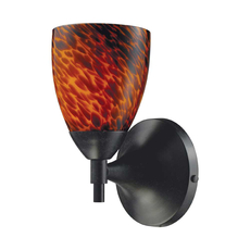 Clearance ELK Celina 1-Light Sconce in Dark Rust and Espresso Glass
