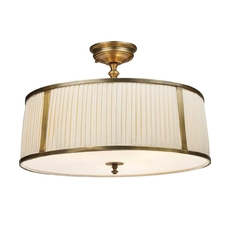 Clearance ELK Williamsport 4-Light Semi-Flush in Vintage Brass Patina OVFCR121774