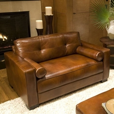 Elements Soho Leather Oversized Accent Chair in Rustic