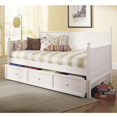 Fashion Bed Group Casey Daybed in Ivory with Free Mattress