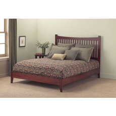 Fashion Bed Group Jakarta Platform Bed in Mahogany