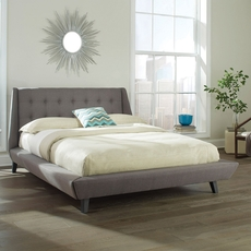 Fashion Bed Group Prelude Queen Size Bed in Ash