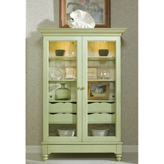 Clearance Fine Furniture Design Summer Home Display Cabinet in Sea Grass OVFN011808