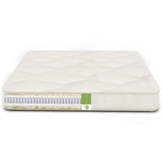FTS Queen Size Organic Cozy Nest Double Sided Mattress - MicroCoil, Organic Cotton, Organic Wool Medium Firm