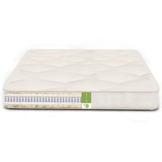 FTS Queen Size Cozy Nest Double Sided Mattress - MicroCoil, Organic Cotton, Wool Medium Firm