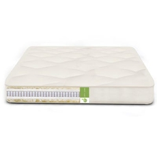 FTS Queen Size Vegan Cozy Nest Mattress - MicroCoil, Organic Cotton, PLA Medium Firm