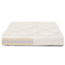 FTS Queen Size Organic TranquilNest Double Sided Mattress - MicroCoil, Organic Wool Medium Firm