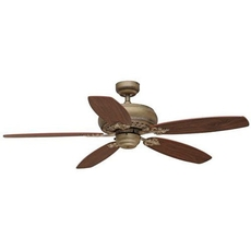 Clearance Golden Lighting Rockefeller 52 inch 5 Blade Fan OVFCR121782