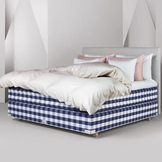 Full Hastens 2000T Continental Bed at Hastens Detroit