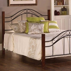 Hillsdale Furniture Matson Queen Bed in Cherry/Black
