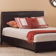 Hillsdale Furniture Hayden Queen Bed in One in Brown Leatherete