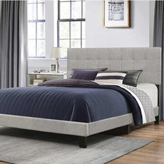 Hillsdale Furniture Delaney King Bed in Glacier Gray Fabric