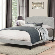 Hillsdale Furniture Nicole Full Bed in One in Glacier Gray Fabric