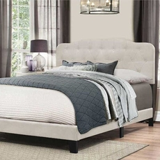 Hillsdale Furniture Nicole Queen Bed in One in Fog Fabric