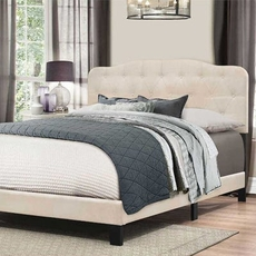 Hillsdale Furniture Nicole King Bed in One in Linen Fabric