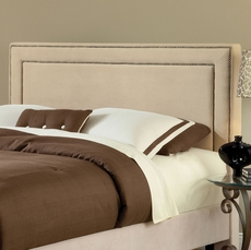 Hillsdale Furniture Amber Fabric Upholstered Headboard in Buckwheat King Size