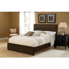 Hillsdale Furniture Amber Fabric Upholstered Headboard in Chocolate Queen Size