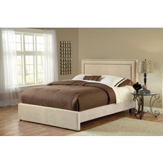 Hillsdale Furniture Amber Fabric Upholstered Bed in Buckwheat Queen Size