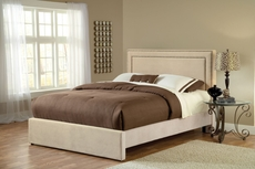 Hillsdale Furniture Amber Fabric Upholstered Bed in Buckwheat King Size
