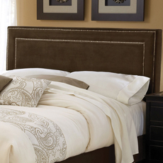 Hillsdale Furniture Amber Fabric Upholstered Bed in Chocolate King Size