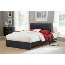 Hillsdale Furniture Amber Fabric Upholstered Bed in Pewter Queen Size