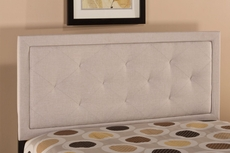 Hillsdale Furniture Becker Headboard with Metal Bed Frame in Cream Queen Size