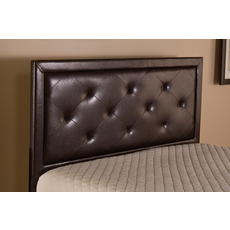 Hillsdale Furniture Becker Headboard with Bed Frame in Brown Faux Leather Queen Size