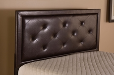 Hillsdale Furniture Becker Headboard with Metal Bed Frame in Brown Faux Leather Twin Size