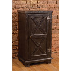 Hillsdale Furniture Bellefonte Door Cabinet with Cross Design