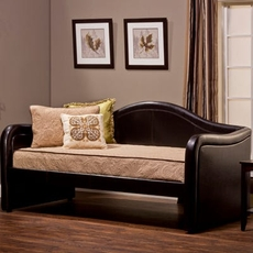 Hillsdale Furniture Brenton Faux Leather Daybed with FREE Trundle - Closeout!