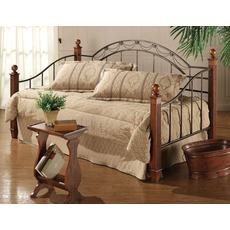 Hillsdale Furniture Camelot Daybed with Wood Posts with Free Mattress