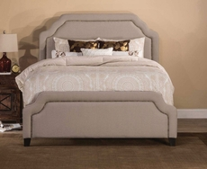 Hillsdale Furniture Carlyle Fabric Upholstered Bed in Light Taupe Cal King Size