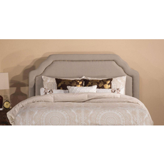 Hillsdale Furniture Carlyle Fabric Upholstered Headboard with Bed Frame in Light Taupe King Size