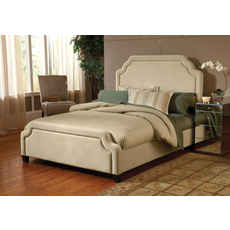 Hillsdale Furniture Carlyle Fabric Upholstered Bed in Buckwheat Queen Size
