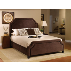 Hillsdale Furniture Carlyle Fabric Upholstered Bed in Chocolate King Size