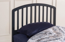 Hillsdale Furniture Carolina Headboard with Bed Frame in Navy Twin Size