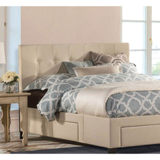 Hillsdale Furniture Duggan Fabric Upholstered Headboard with Bed Frame King Size