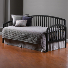 Hillsdale Furniture Carolina Daybed in Black with Free Polytop Frame