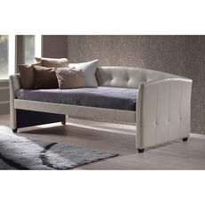 Hillsdale Furniture Napoli Daybed in Ivory with Free Daybed Mattress