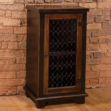 Hillsdale Furniture Gibbins Cabinet with Metal Insert Door
