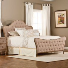 Hillsdale Furniture Jefferson Bed in Antique Beige Fabric Queen Size