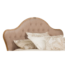 Hillsdale Furniture Jefferson Headboard in Antique Beige Fabric Queen Size