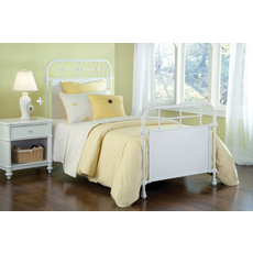 Hillsdale Furniture Kensington Bed in Textured White Queen Size