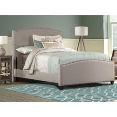 Hillsdale Furniture Kerstein Fabric Upholstered Bed in Dove Gray Full Size
