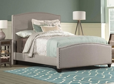 Hillsdale Furniture Kerstein Fabric Upholstered Bed in Dove Gray King Size