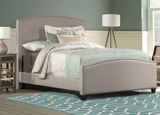 Hillsdale Furniture Kerstein Fabric Upholstered Bed in Dove Gray Twin Size
