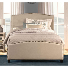 Hillsdale Furniture Kerstein Fabric Upholstered Bed in Light Taupe Full Size