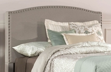 Hillsdale Furniture Kerstein Fabric Upholstered Headboard with Bed Frame in Dove Gray King Size